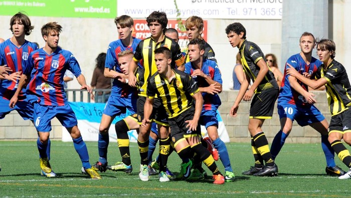 menorca-zaragoza liga futbol juvenil division de honor